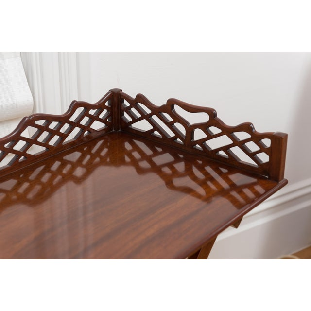Baker Furniture Mahogany Butler's Table - 2 Pieces - Image 3 of 4