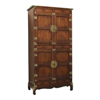 Henredon Asian Japanese Tansu Campaign Style Extra Large Gentleman's Chest For Sale