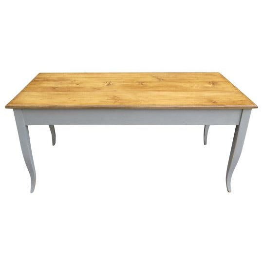 Antique French Dining Table in Pine With Waxed Top For Sale In Boston - Image 6 of 6