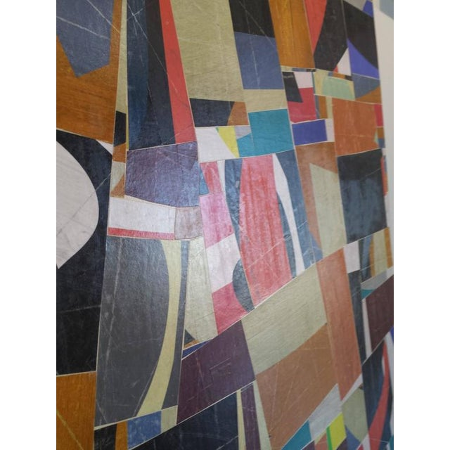 "Contemporary ""pdp 787"" Original Collage on Canvas by Cecil Touchon For Sale - Image 3 of 7"