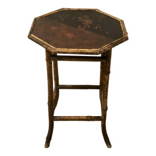 Antique English Victorian Bamboo Table