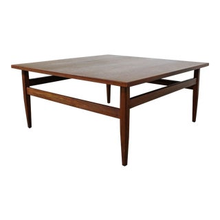 Mid-Century Modern Teak Square Coffee Table For Sale
