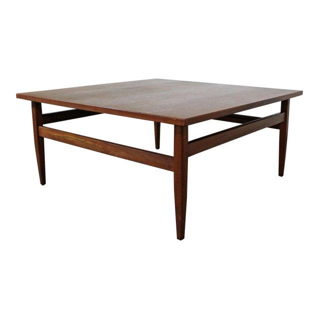 92835ac48aa4 Mid-Century Modern Teak Square Coffee Table For Sale