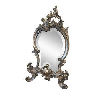 Vintage Sterling Silver Vanity Table Mirror For Sale