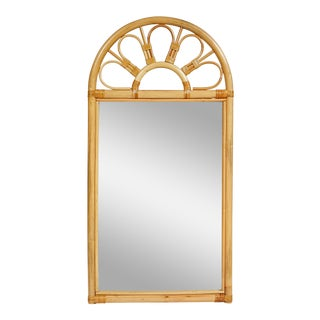 1970s Bamboo Wall Mirror For Sale