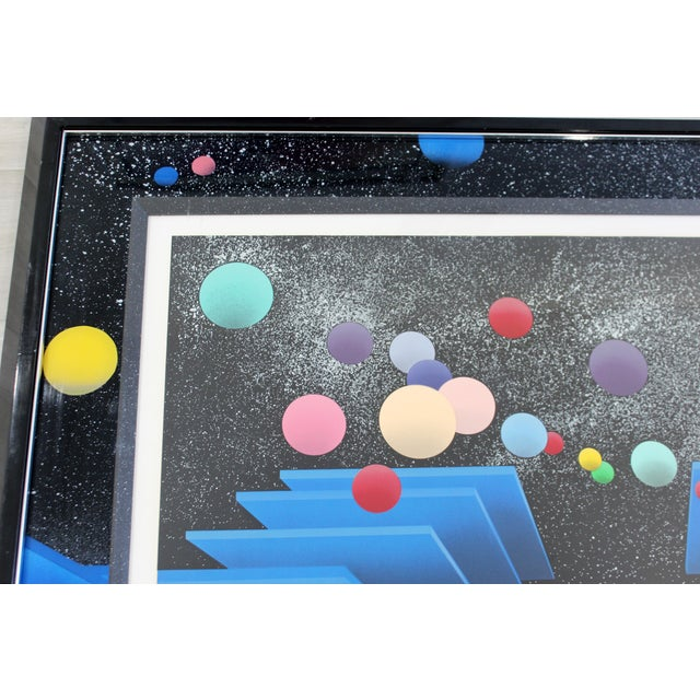 Contemporary Modern Framed Signed Serigraph Stan Solomon After Beginning 1980s For Sale - Image 4 of 9