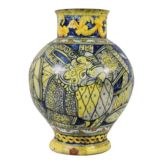Ceramic Roman Majolica Pot For Sale - Image 7 of 10