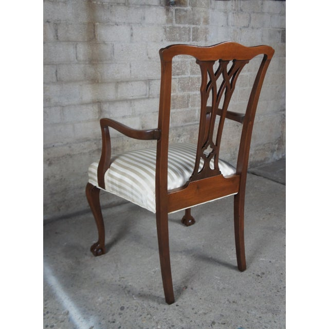 Chippendale Style Mahogany Dining Arm Chair, Ball & Claw Feet For Sale - Image 11 of 12