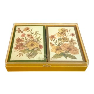 Vintage Hallmark Boxed Playing Cards, Double Deck For Sale