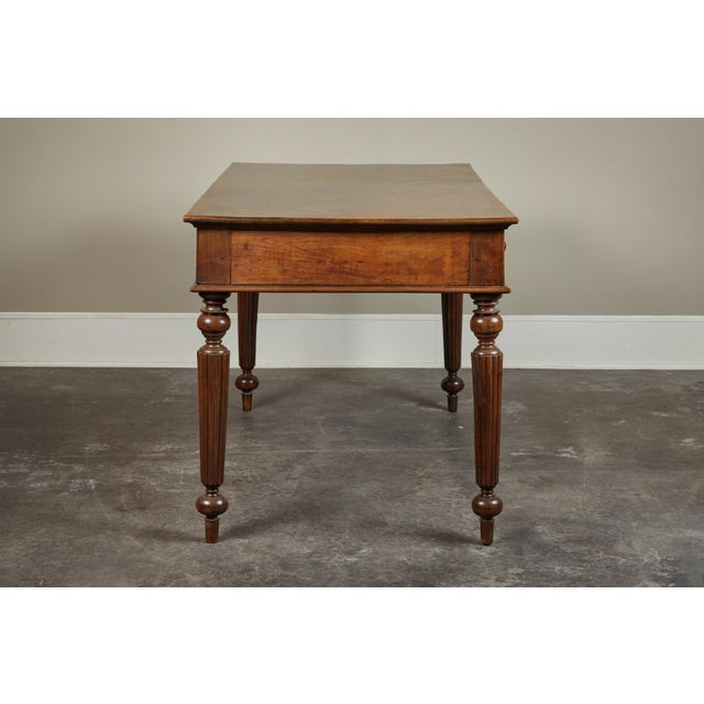 Traditional French Colonial Single-Piece Rosewood Top Desk For Sale - Image 3 of 13