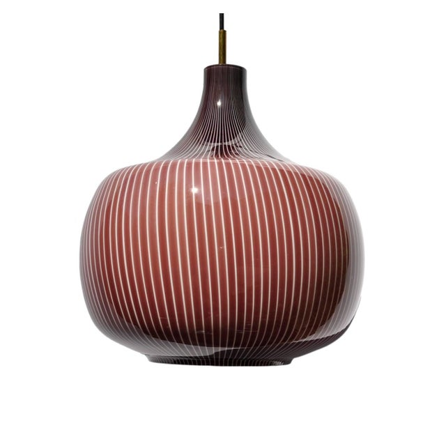 1960s Large Canne Marroni Pendant by Studio Venini, Murano, Italy, 1960s For Sale - Image 5 of 5