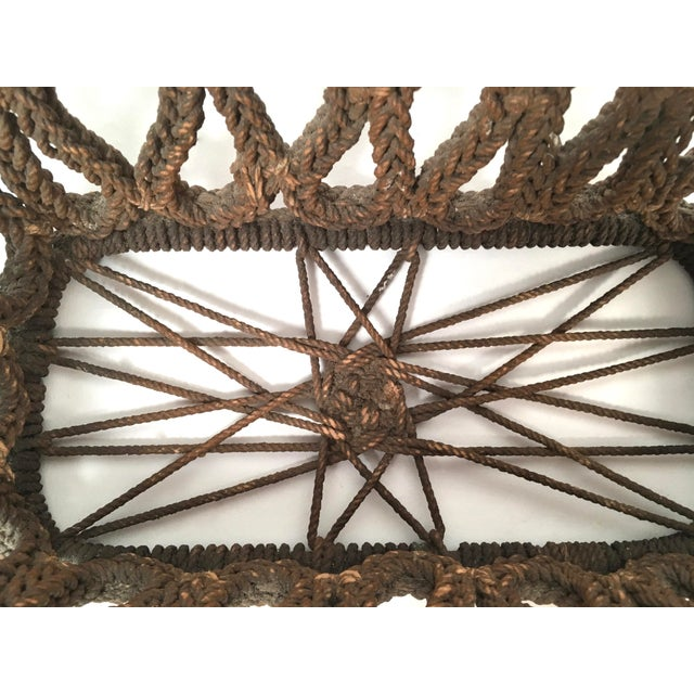 19th Century Sailor Made Ropework Basket For Sale - Image 9 of 10
