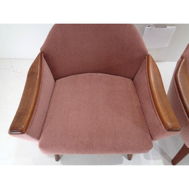 Pink Mid Century His & Hers Adrian Pearsall Lounge Chairs For Sale - Image 8 of 13