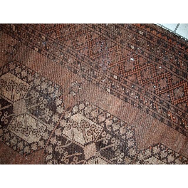 1900s handmade antique Afghan Ersari rug 8.6' X 11.8' For Sale - Image 4 of 13