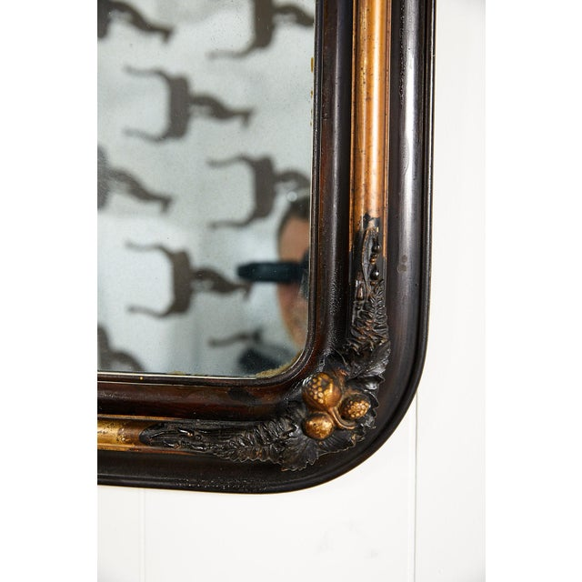 French Ebonized and Gilded Wall Mirror, Circa 1900 For Sale In Atlanta - Image 6 of 11