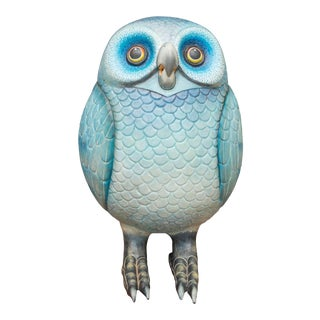 Sergio Bustamante Ceramic Owl For Sale