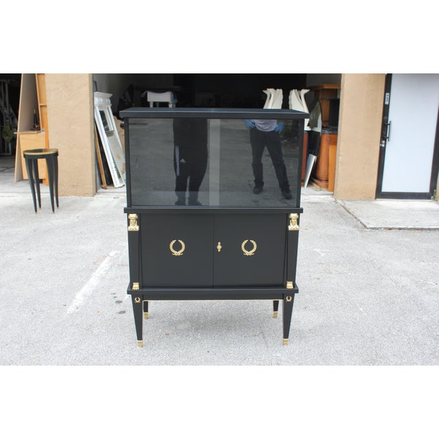 1920s French Empire Style Mahogany Sideboard or Dry Bar For Sale In Miami - Image 6 of 13