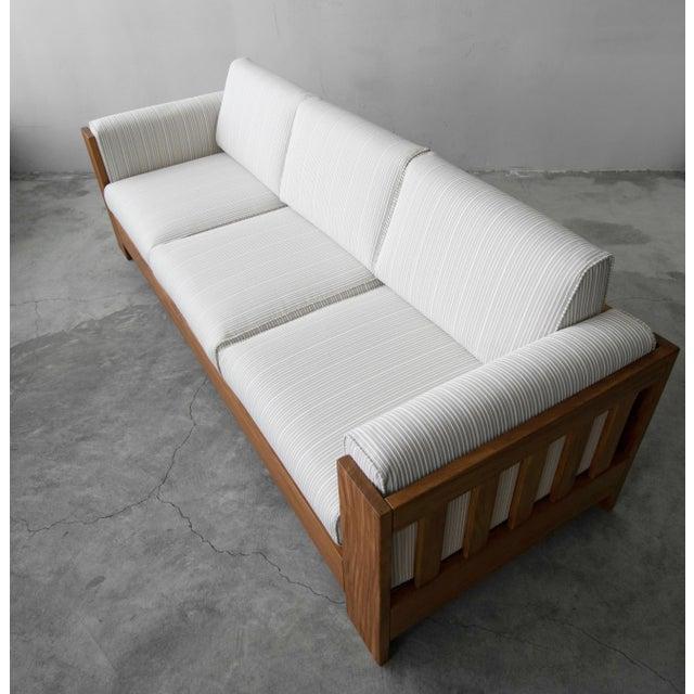 Danish Home Design Ideas: Solid Danish Teak Slat Back Sofa
