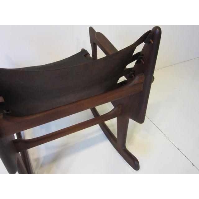 Angel Pazmino Mid Century Sculptural Rosewood Rocking Chair For Sale In Cincinnati - Image 6 of 12