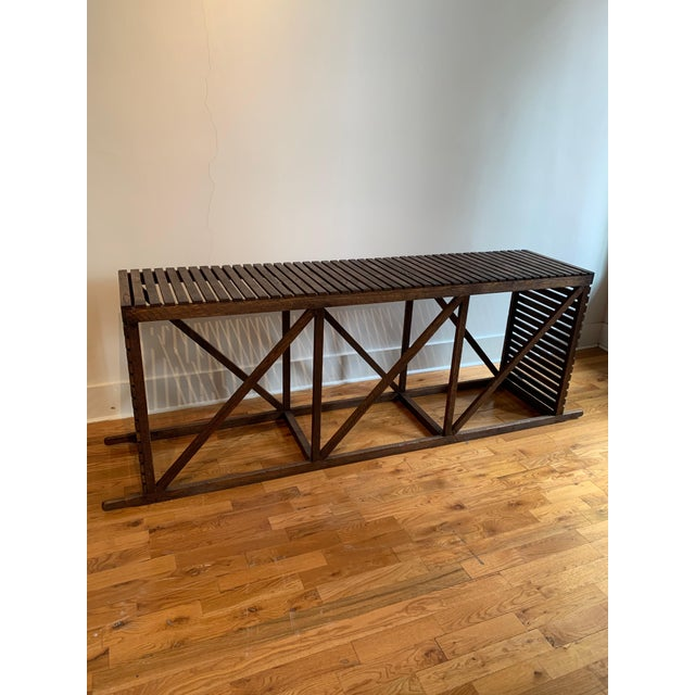 "Rustic ""Museum Crate"" Console Table For Sale - Image 12 of 12"