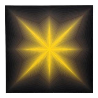 "1970s Roy Ahlgren, ""Star"", Op Art Screenprint For Sale"