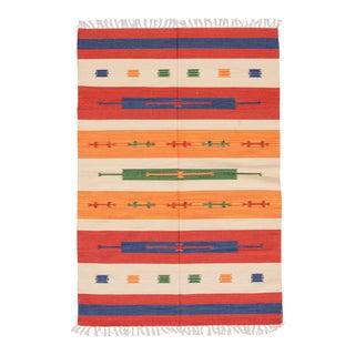 Colorful Modern Kilim Handmade Wool Rug