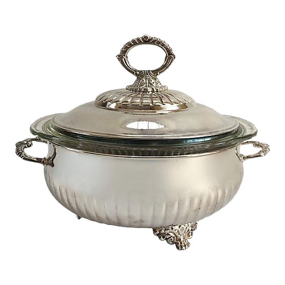 Vintage Silver Plate Tureen For Sale
