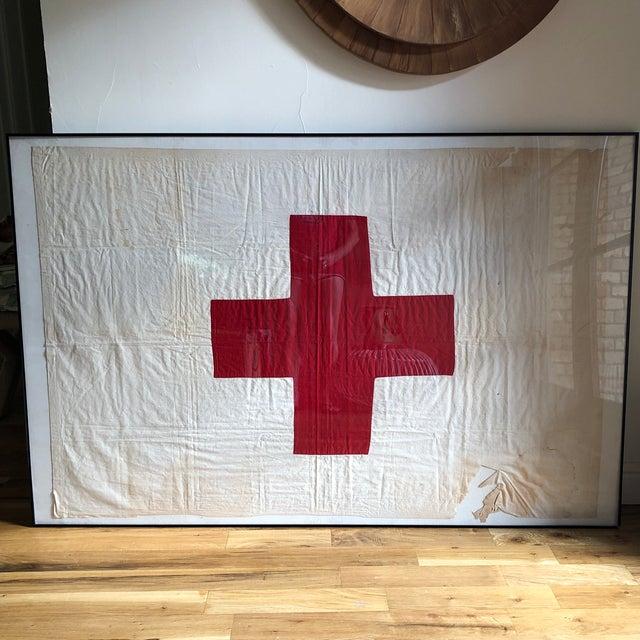 Antique Framed Red Cross Flag For Sale - Image 12 of 12