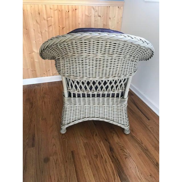 Palecek Palecek Designer Lounge Chair & Ottoman - a Pair For Sale - Image 4 of 8