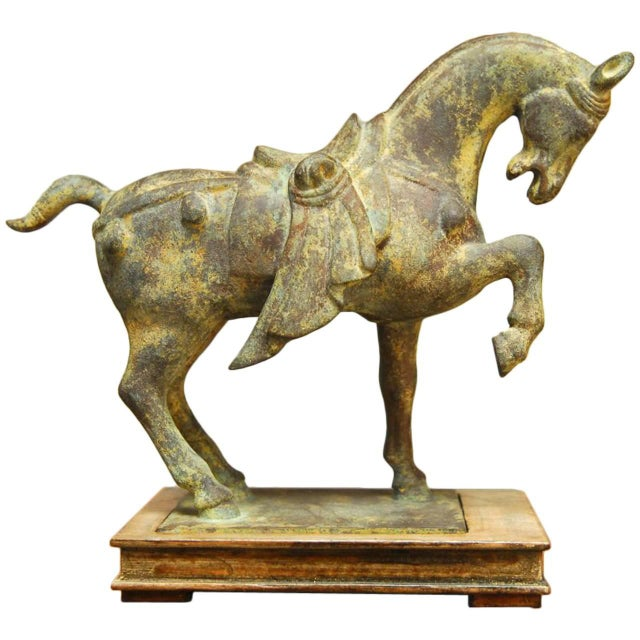 Chinese Tang Style Cast Iron Horse Sculpture - Image 1 of 7