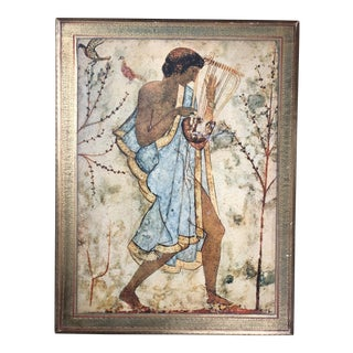 Vintage Florentine Etruscan Art Wall Hanging For Sale