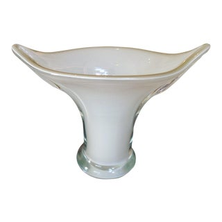 "Gray ""Cala Lily"" Murano Vase For Sale"