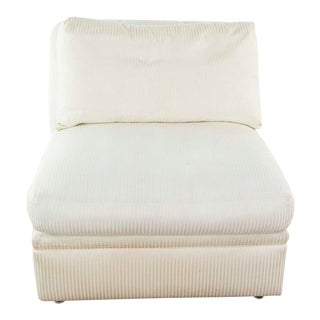 Bernhardt White Upholstered Slipper Chair For Sale