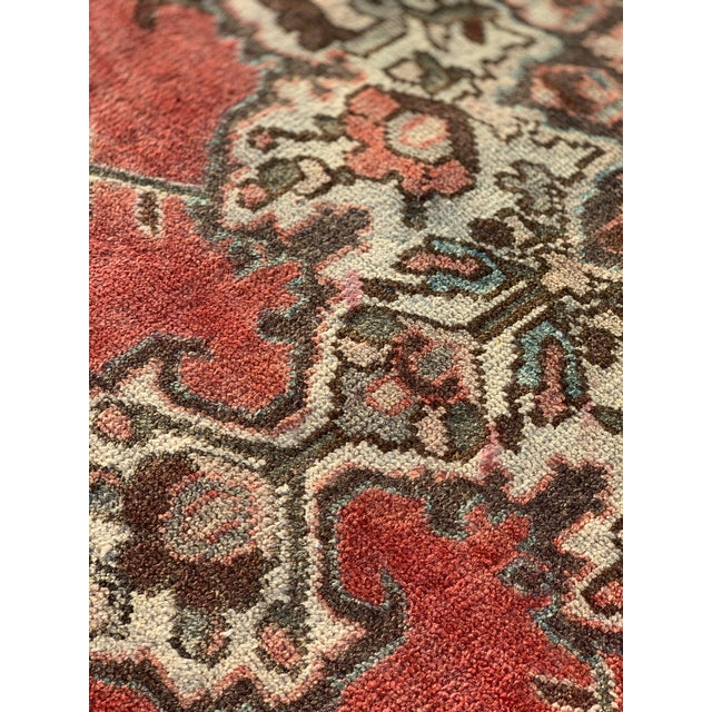 1960s Vintage Persian Hamadan Rug - 4′5″ × 6′6″ For Sale - Image 11 of 13