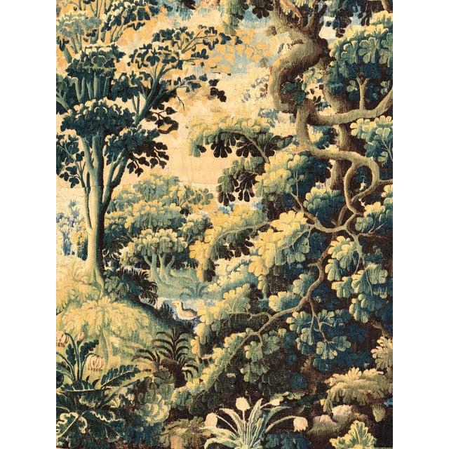 Baroque Antique 17th C Flemish Landscape Tapestry For Sale - Image 3 of 9