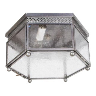 Hexagonal Flush Glass Mount Fixture For Sale