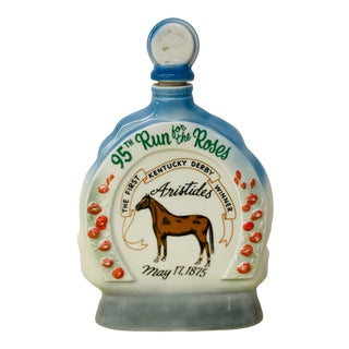 Vintage Mid-Century 1969 95th Ky Derby Jim Beam Collector's Bourbon Decanter For Sale