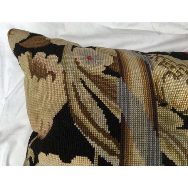 French Needlepoint Aubusson Pillow For Sale - Image 5 of 6