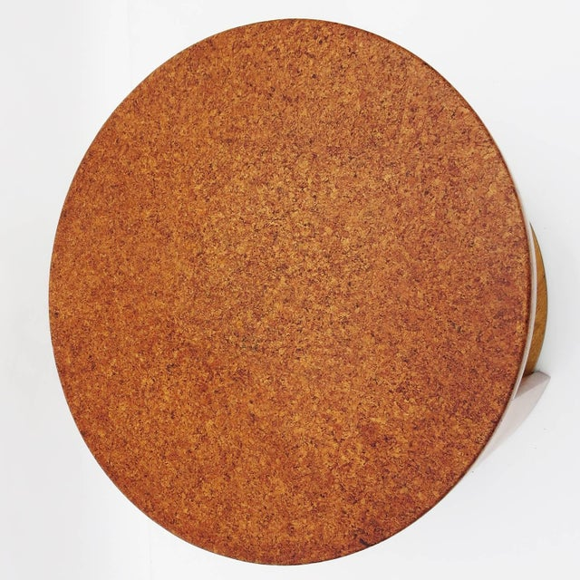 1940s Cork Topped Occasional Table For Sale - Image 5 of 7