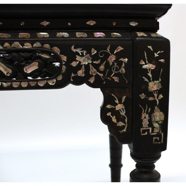 Marble & Mother of Pearl Inlay Table - Image 6 of 10