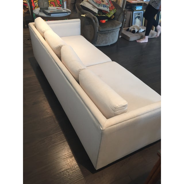 Baker Furniture Mid-Century Off-White Couch - Image 4 of 9