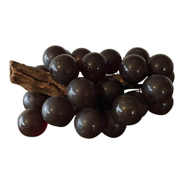 Vintage Brown Resin Grape Cluster For Sale