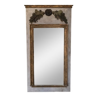 French Mirror with Gilt Remnants