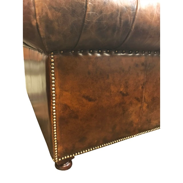 Restored Distressed Vintage Brown Leather Chesterfield Club Armchair - Image 6 of 7