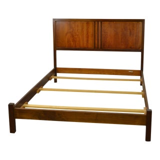 Stickley Modern Cherry & Walnut Queen Size Bed