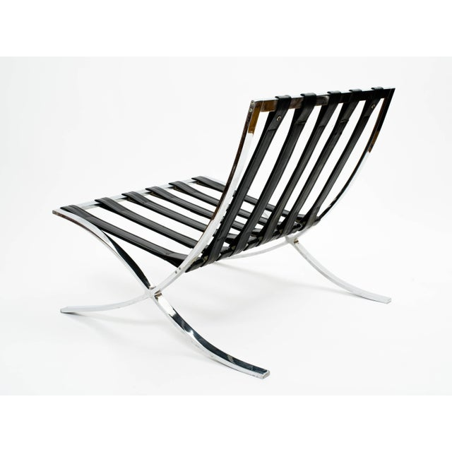 Metal Italian Barcelona Style Chair and Ottoman Frames - 2 Pieces For Sale - Image 7 of 11
