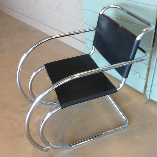 Mies Van Der Rohe Mr20 Cantilever Chairs- a Pair - Image 7 of 8