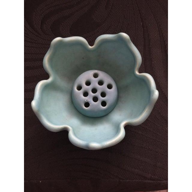 Van Briggle Lotus Blossom & Flower Frog Pottery - Image 3 of 4
