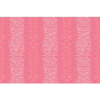 Zebra Strawberry Linen Cotton Fabric, 3 Yards For Sale