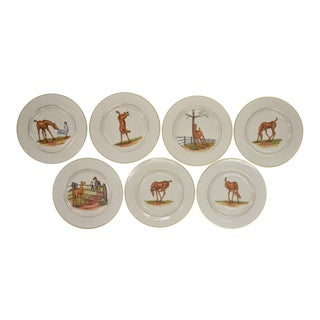 1950s Vintage Cyril Gorainoff for Abercrombie & Fitch 'Colt' Plates - Set of 7 For Sale